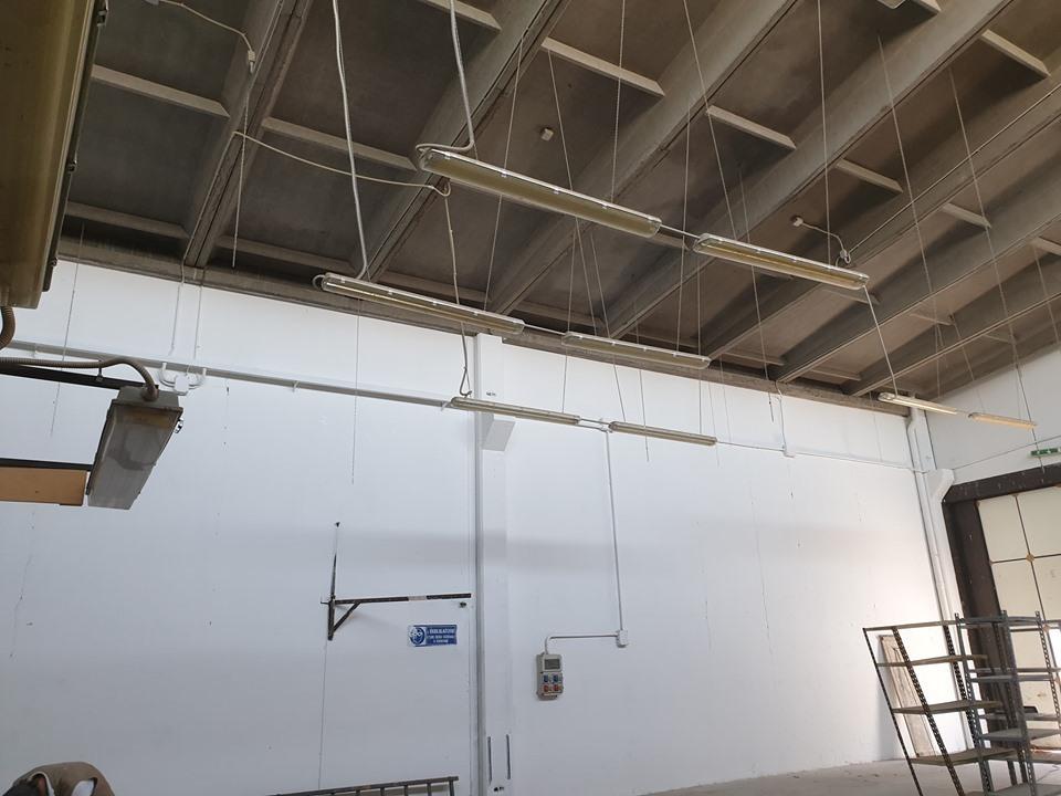 imbiancatura pareti capannone