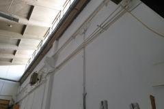 verniciatura a spruzzo pareti del capannone